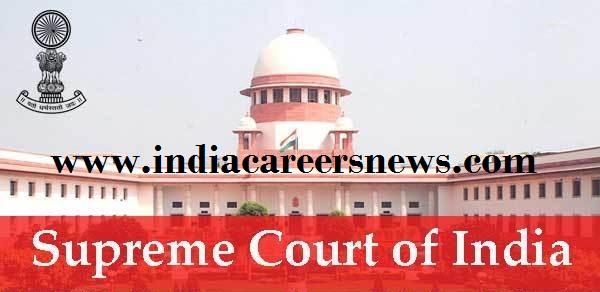 Supreme Court Of India Recruitment