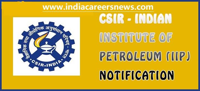 CSIR-IIP Dehradun Recruitment