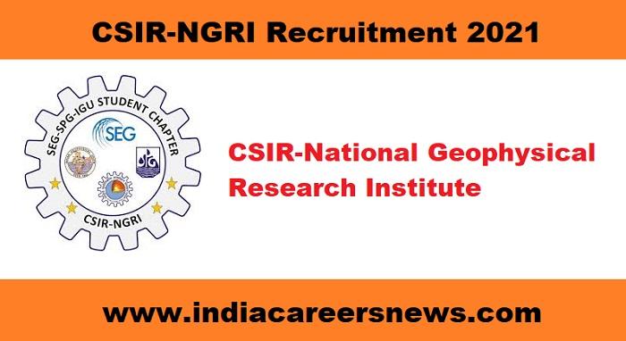 CSIR-NGRI Recruitment