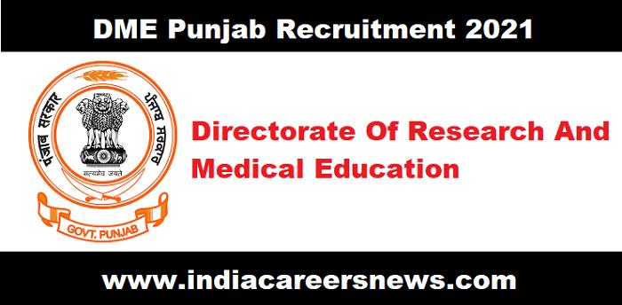 DME Punjab Recruitment