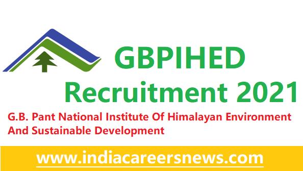 GBPIHED Recruitment