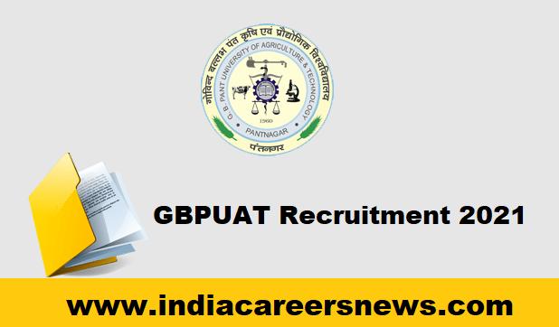 GBPUAT Recruitment