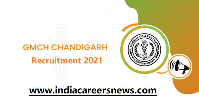 GMCH Chandigarh Recruitment