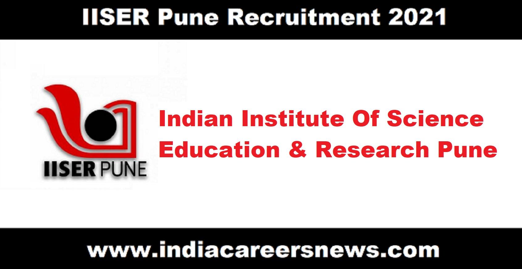 IISER Pune Recruitment