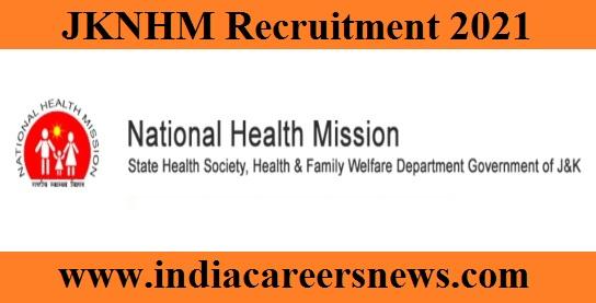 JKNHM Specialist Recruitment
