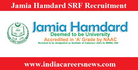 Jamia Hamdard SRF Recruitment
