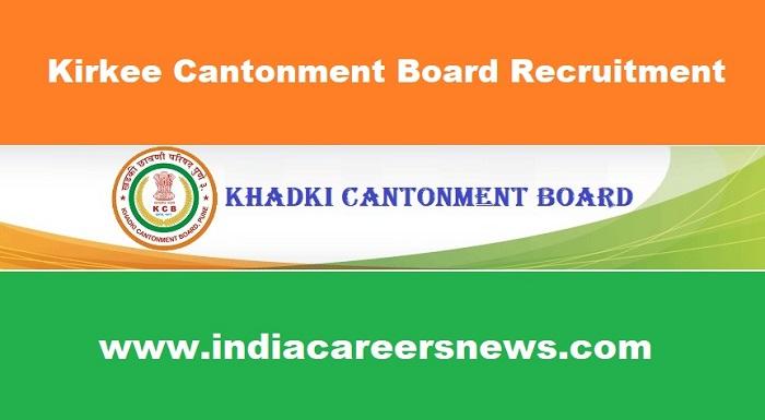 Kirkee Cantonment Board Recruitment