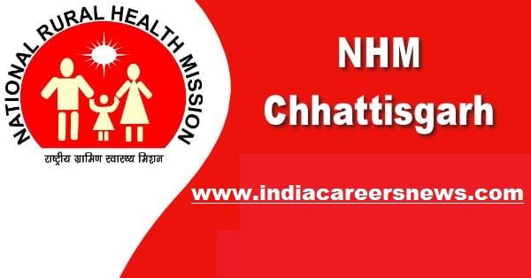 NHM Chhattisgarh Recruitment