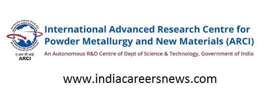 ARCI Hyderabad Recruitment