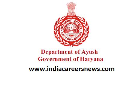 Ayush Haryana Recruitment
