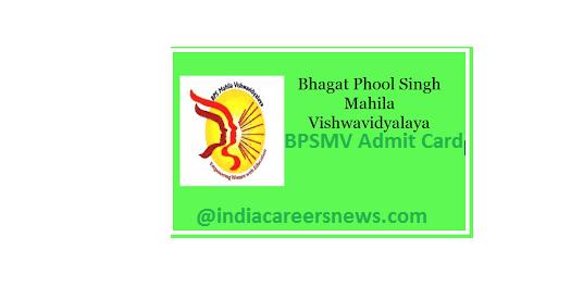 BPSMV Admit Card