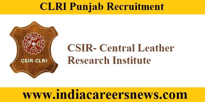 CLRI Punjab Recruitment