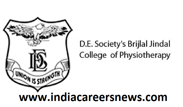 DES Brijlal Jindal College of Physiotherapy Recruitment