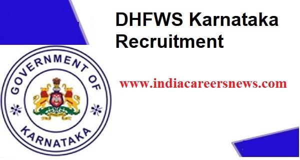 DHFWS Karnataka Recruitment