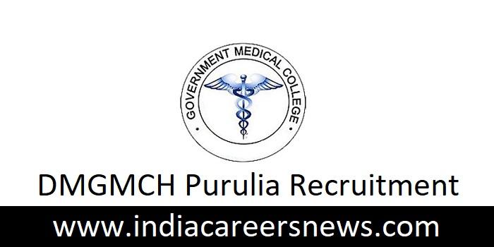 DMGMCH Purulia Recruitment