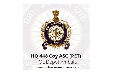 HQ 448 Coy ASC PET Recruitment