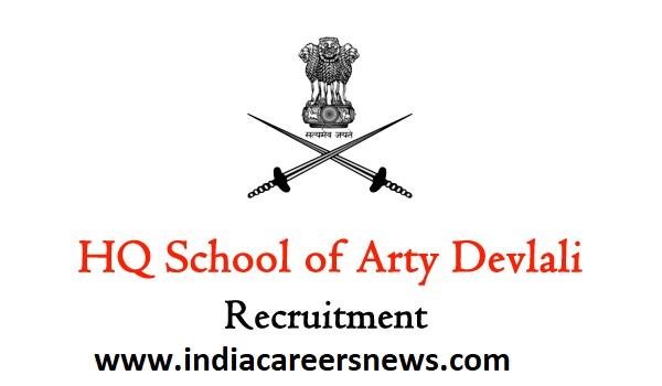 HQ School of Arty Devlali Recruitment