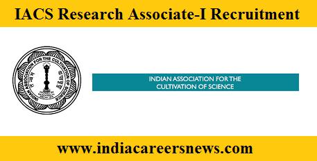 IACS Recruitment