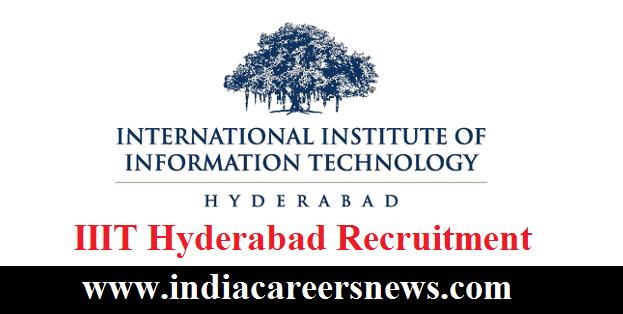 IIIT Hyderabad Recruitment