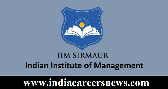 IIM Sirmaur Recruitment