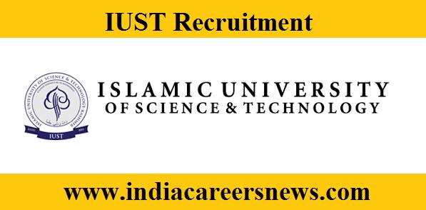 IUST Recruitment