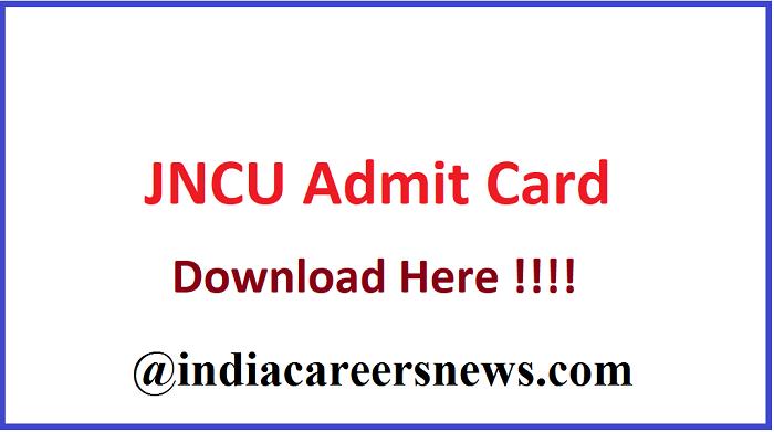 JNCU Ballia Admit Card