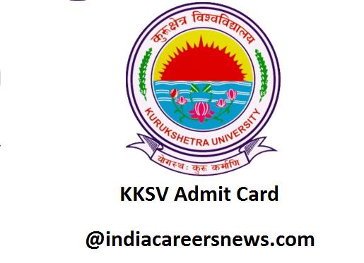 KKSV Admit Card