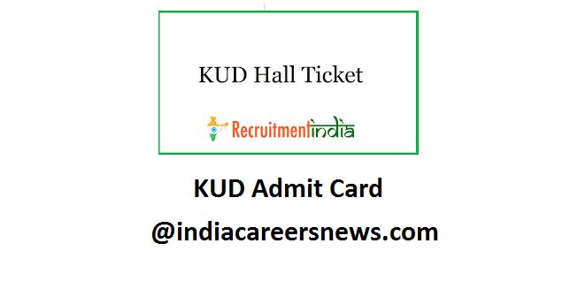 KUD Admit Card