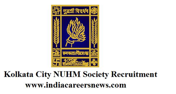 Kolkata City NUHM Society Recruitment