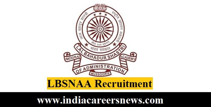LBSNAA Recruitment