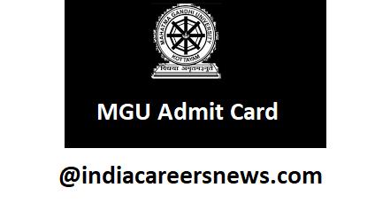 MGU Admit Card