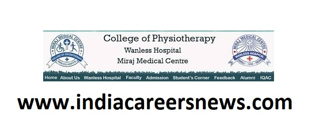 Miraj Medical Center College of Physiotherapy Recruitment