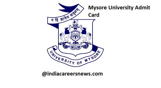 Mysore University Admit Card