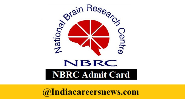 NBRC Admit Card