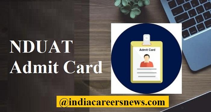 NDUAT Admit Card