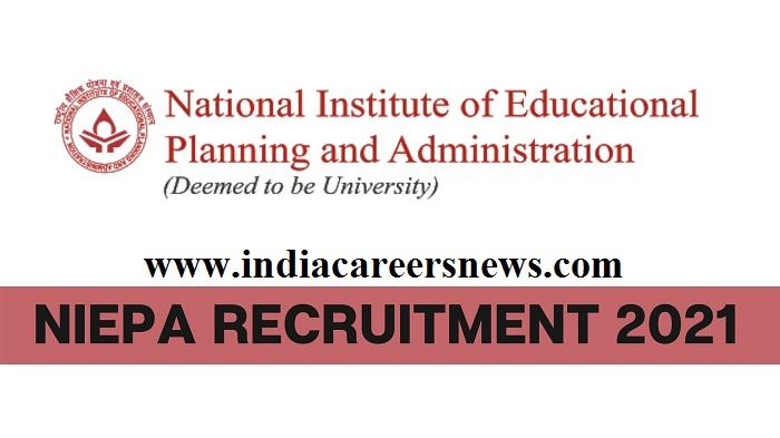 NIEPA Recruitment