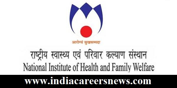 NIHFW Recruitment