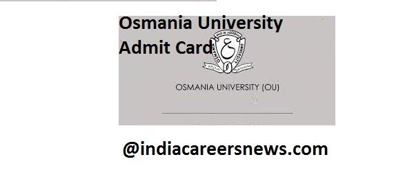 Osmania University Admit Card