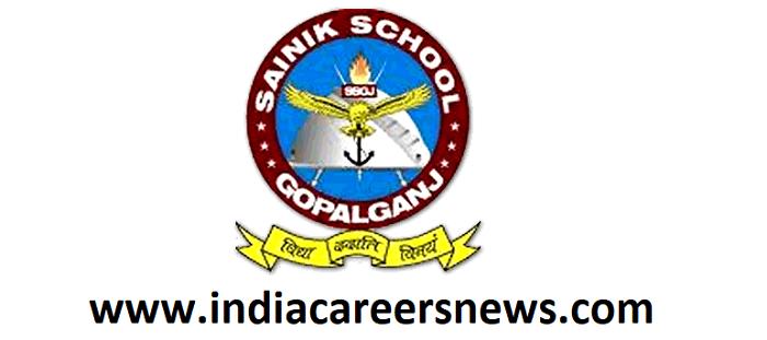 Sainik School Gopalganj Recruitment