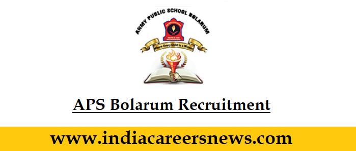 APS Bolarum Recruitment