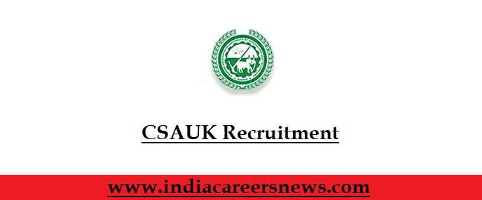 CSAUK Recruitment