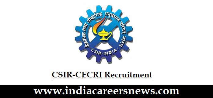 CSIR-CECRI Recruitment