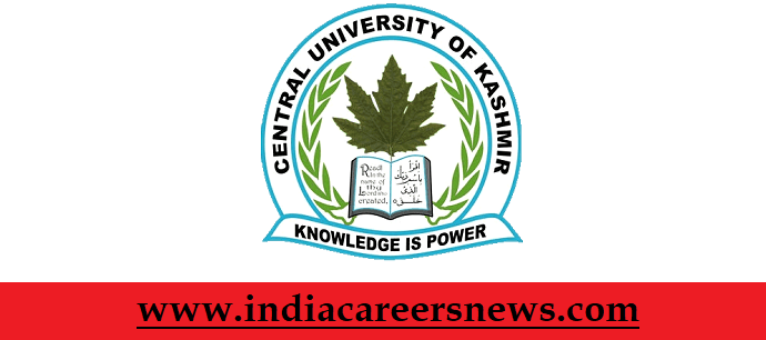 Central University of Kashmir Ganderbal Career Vacancies