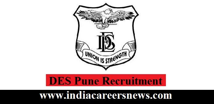 DES Pune Recruitment