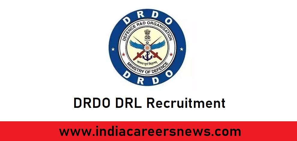 DRDO DRL Recruitment