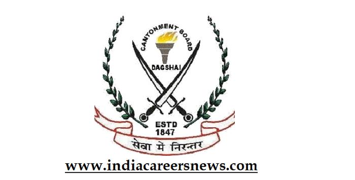 Dagshai Cantonment Board Recruitment
