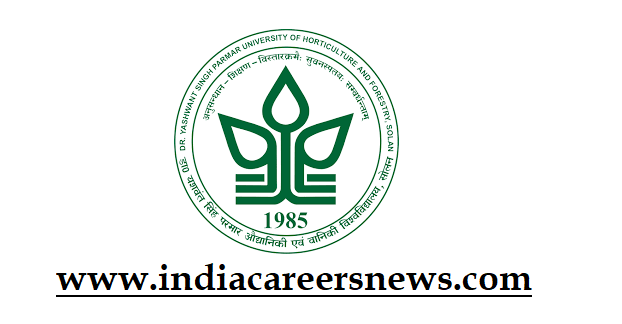 Dr YSP University Recruitment
