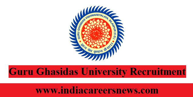 Guru Ghasidas University Recruitment