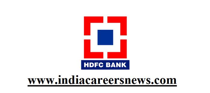 HDFC Bank Agartala Recruitment