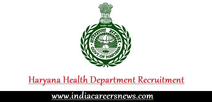 Haryana Health Department Recruitment